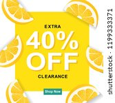 sale poster with lemon  vector... | Shutterstock .eps vector #1199333371