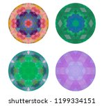 set of kaleidoscopes. white... | Shutterstock .eps vector #1199334151