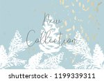christmas tree cone painting... | Shutterstock .eps vector #1199339311