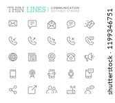 collection of communication... | Shutterstock .eps vector #1199346751