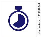 clock vector icon. | Shutterstock .eps vector #1199348764