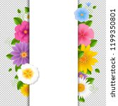 card with flowers transparent... | Shutterstock . vector #1199350801
