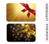 golden gift cards  | Shutterstock . vector #1199350804
