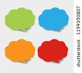 colorful speech bubble... | Shutterstock . vector #1199350807