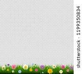 grass and border transparent... | Shutterstock . vector #1199350834