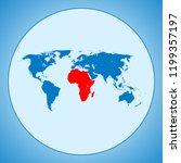 map of africa | Shutterstock .eps vector #1199357197
