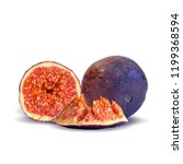 fresh  nutritious  tasty figs.... | Shutterstock .eps vector #1199368594