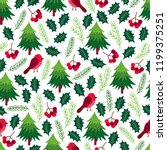 christmas seamless pattern with ... | Shutterstock .eps vector #1199375251