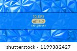 bright blue abstract triangular ... | Shutterstock .eps vector #1199382427