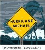 hurricane michael sign ... | Shutterstock .eps vector #1199383147