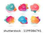 dynamic liquid shapes. set of... | Shutterstock .eps vector #1199386741