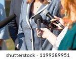 journalists making media... | Shutterstock . vector #1199389951
