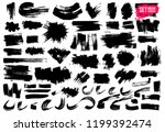 set of brush strokes.... | Shutterstock .eps vector #1199392474
