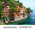 seaside villas near portofino...   Shutterstock . vector #119940775