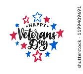 happy veterans day  hand... | Shutterstock .eps vector #1199409691