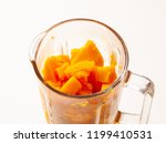 cooking pumpkin puree in a... | Shutterstock . vector #1199410531