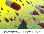 2d illustration. human standing ...   Shutterstock . vector #1199412724