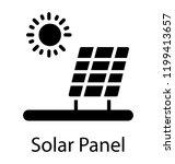 renewable energy from solar... | Shutterstock .eps vector #1199413657