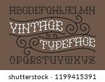 smooth old style vintage font... | Shutterstock .eps vector #1199415391