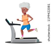 modern old woman doing cardio... | Shutterstock .eps vector #1199422081