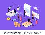 isometric concept the investor... | Shutterstock .eps vector #1199425027