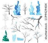 winter vector flat set.fantasy... | Shutterstock .eps vector #1199429404