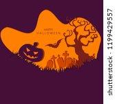 happy halloween vector... | Shutterstock .eps vector #1199429557