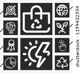 set of 10 concept outline icons ... | Shutterstock .eps vector #1199432554