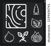 set of 6 natural outline icons... | Shutterstock .eps vector #1199434741
