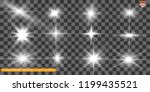 a set of bright beautiful stars.... | Shutterstock .eps vector #1199435521
