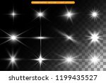 a set of bright beautiful stars.... | Shutterstock .eps vector #1199435527