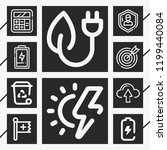 set of 10 concept outline icons ... | Shutterstock .eps vector #1199440084