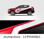 company branding car decal wrap ... | Shutterstock .eps vector #1199440861