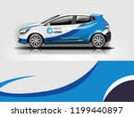 company branding car decal wrap ... | Shutterstock .eps vector #1199440897