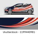 company branding car decal wrap ... | Shutterstock .eps vector #1199440981