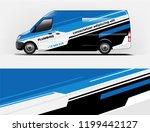 company branding van decal wrap ... | Shutterstock .eps vector #1199442127