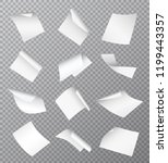 set of vector white empty... | Shutterstock .eps vector #1199443357