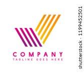modern company logo design... | Shutterstock .eps vector #1199452501