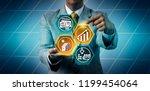 executive predicting growth... | Shutterstock . vector #1199454064