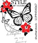 nature butterfly for t shirt... | Shutterstock .eps vector #1199454067