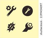 spanner icon. spanner vector...   Shutterstock .eps vector #1199454097