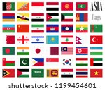 collection of flags from all... | Shutterstock .eps vector #1199454601