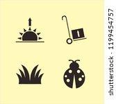 meadow icon. meadow vector... | Shutterstock .eps vector #1199454757