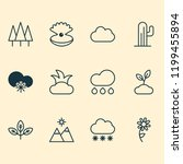 ecology icons set with overcast ... | Shutterstock .eps vector #1199455894