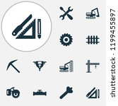 construction icons set with... | Shutterstock .eps vector #1199455897