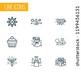 new icons line style set with... | Shutterstock .eps vector #1199456131