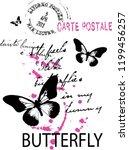 carte postale for t shirt slogan | Shutterstock . vector #1199456257