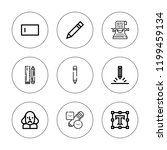 writer icon set. collection of... | Shutterstock .eps vector #1199459134