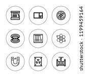 physics icon set. collection of ... | Shutterstock .eps vector #1199459164