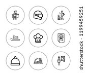 occupation icon set. collection ... | Shutterstock .eps vector #1199459251